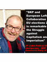 JP (Juha-Pekka) Väisänen, chairperson, Communist Party of Finland, European Left, member of chairpersons council, EU elections